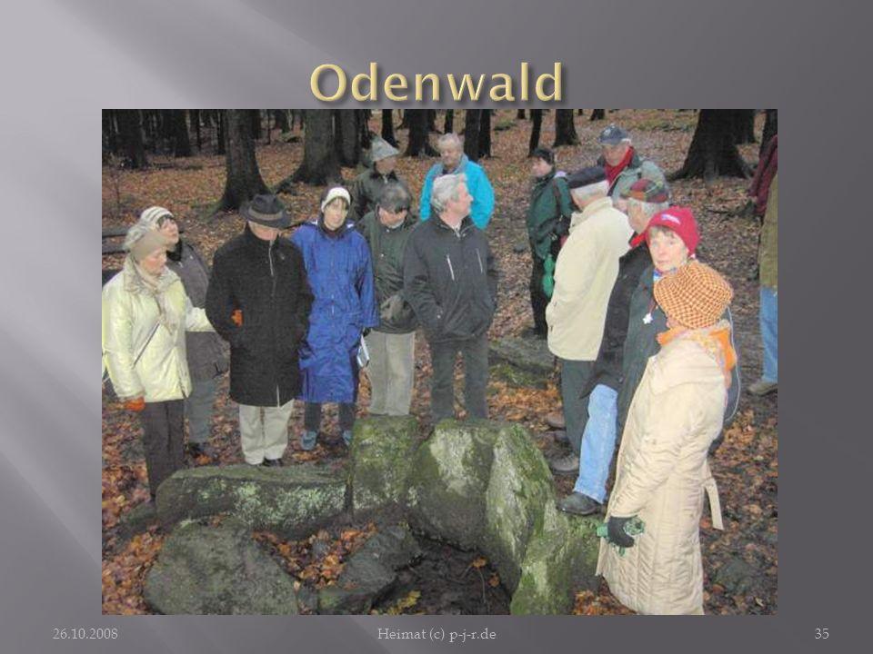 Odenwald Von der Neunkircher Höhe aus führt ein wundervoller Spaziergang zur Gersprenzquelle. 26.10.2008.