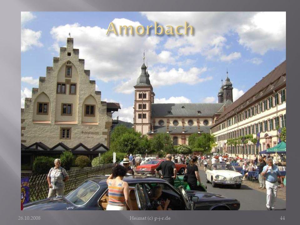 Amorbach Einmalig wirkt die ehemalige Klosteranlage im Besitz der Fürsten von und zu Leiningen. 26.10.2008.