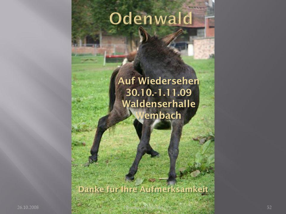 Odenwald Auf Wiedersehen 30.10.-1.11.09 Waldenserhalle Wembach