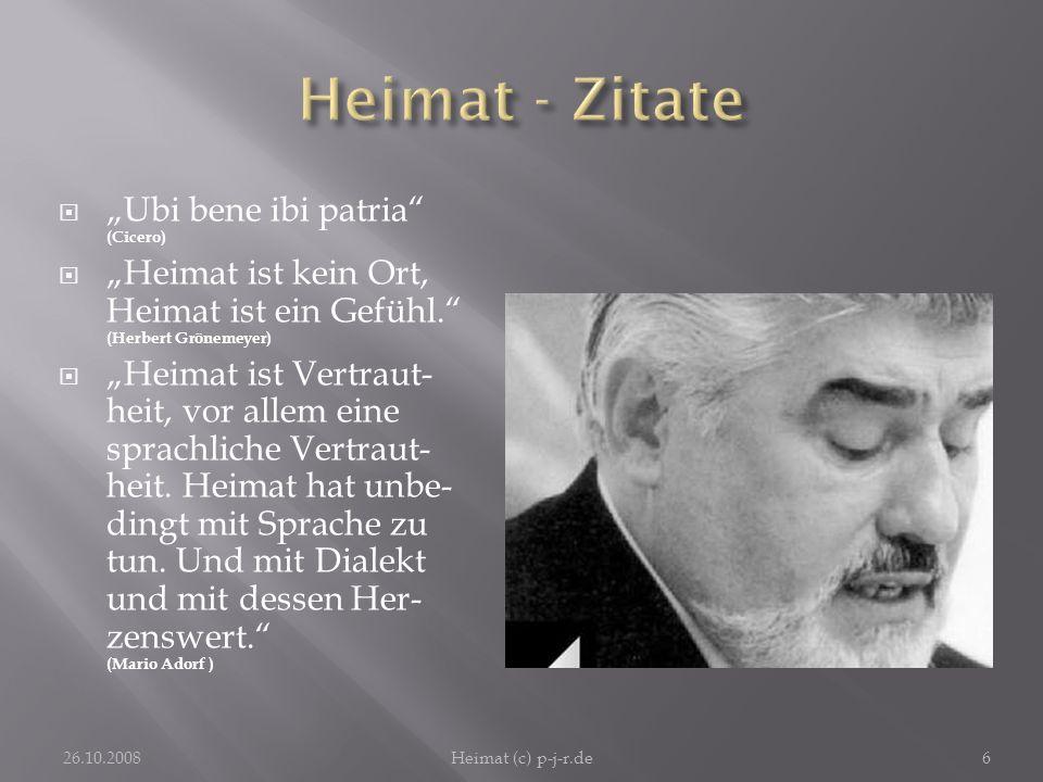 "Heimat - Zitate ""Ubi bene ibi patria (Cicero)"