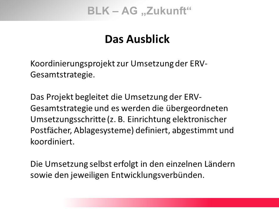 """Das Ausblick BLK – AG """"Zukunft"""