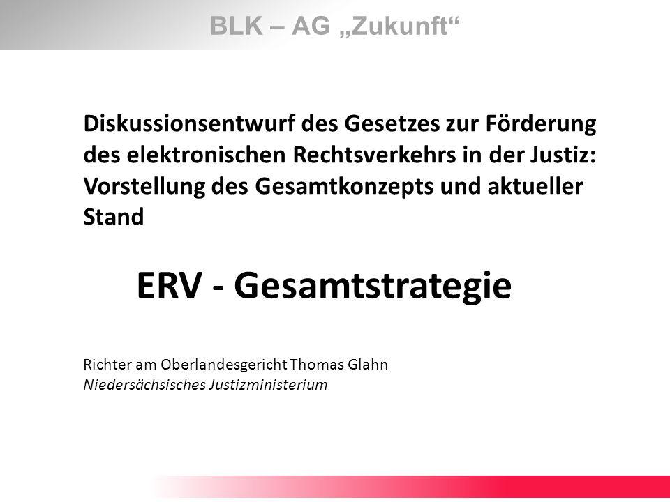 "ERV - Gesamtstrategie BLK – AG ""Zukunft"