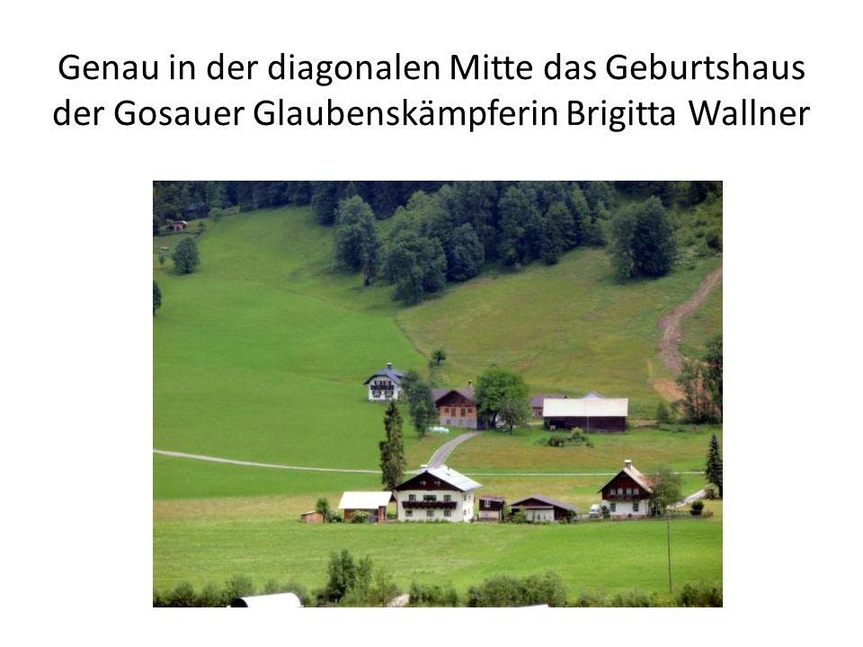 Genau in der diagonalen Mitte das Geburtshaus der Gosauer Glaubenskämpferin Brigitta Wallner
