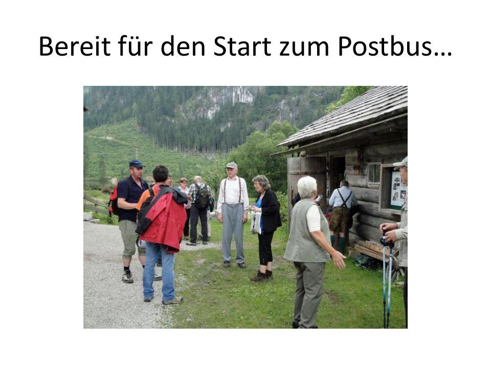 Bereit für den Start zum Postbus…