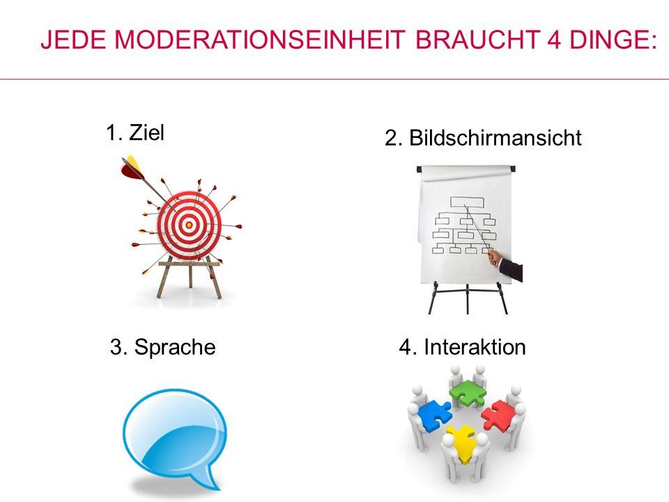 Jede Moderationseinheit braucht 4 Dinge:
