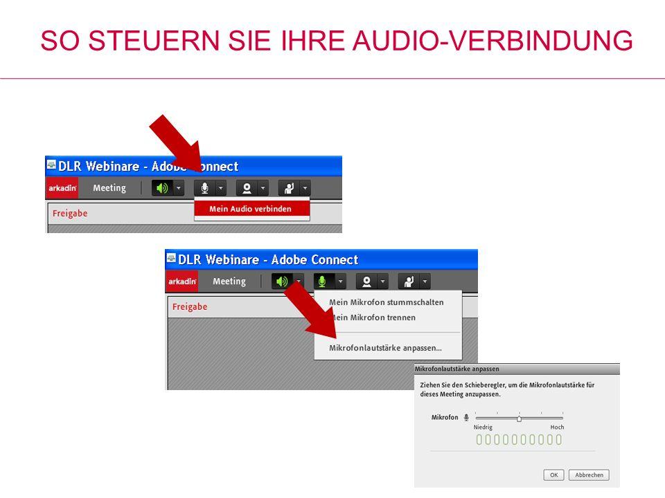 So steuern Sie Ihre Audio-Verbindung