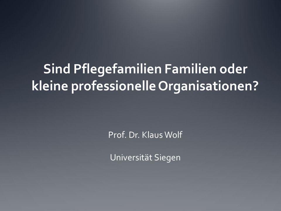 Sind Pflegefamilien Familien oder kleine professionelle Organisationen
