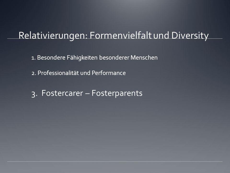 Relativierungen: Formenvielfalt und Diversity 1