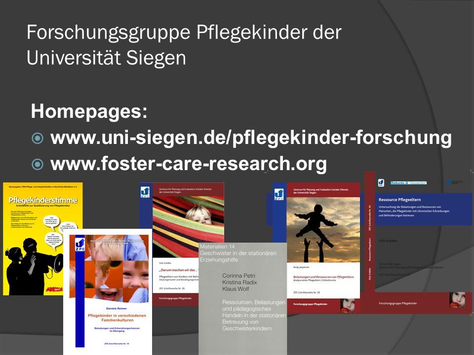 Forschungsgruppe Pflegekinder der Universität Siegen
