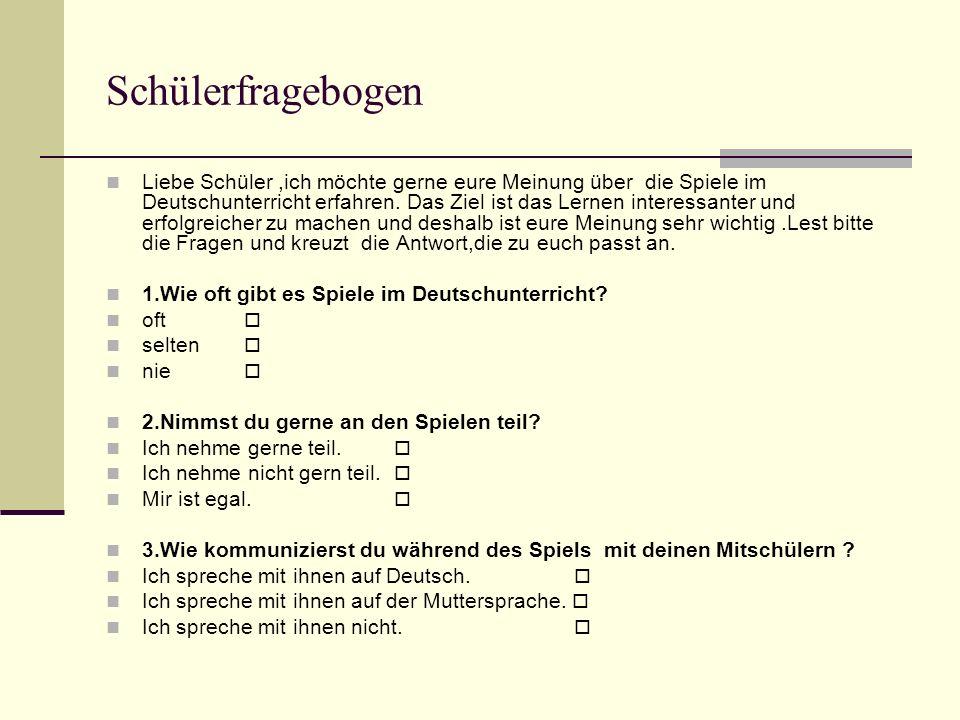 Schülerfragebogen
