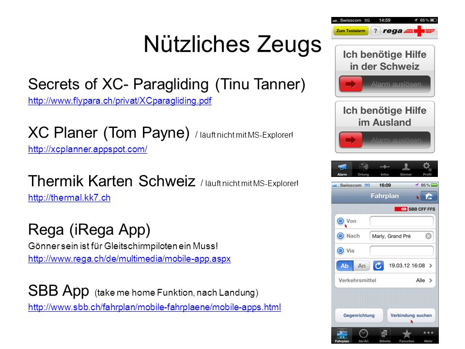 Nützliches Zeugs Secrets of XC- Paragliding (Tinu Tanner)