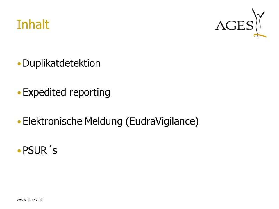 Inhalt Duplikatdetektion Expedited reporting