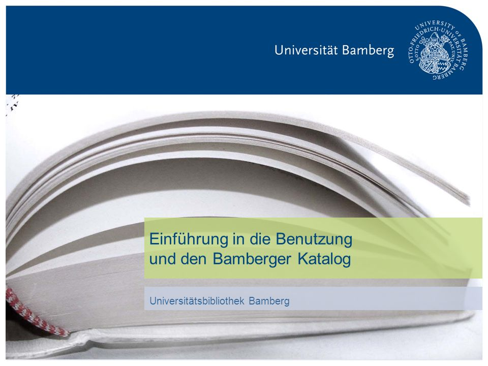 Einführung in die Benutzung und den Bamberger Katalog