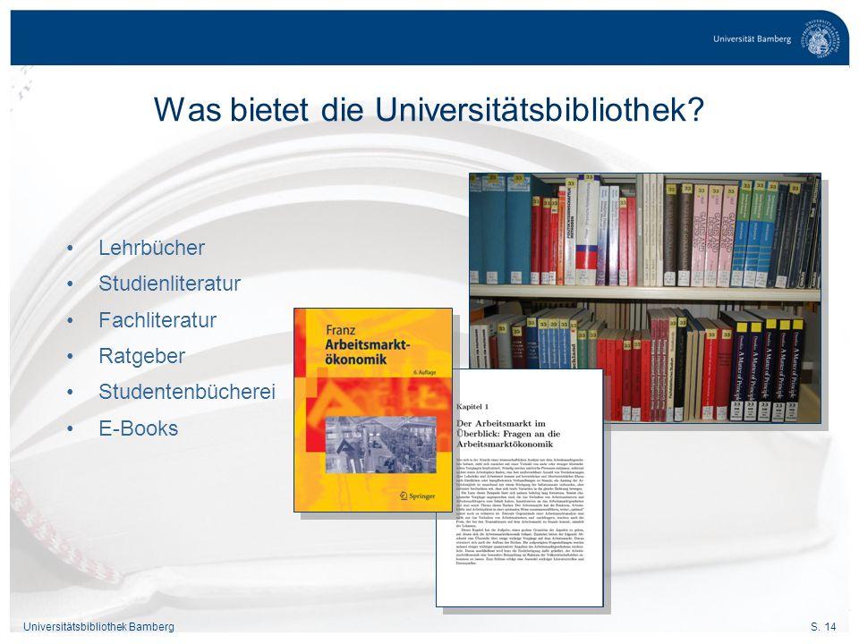 Was bietet die Universitätsbibliothek