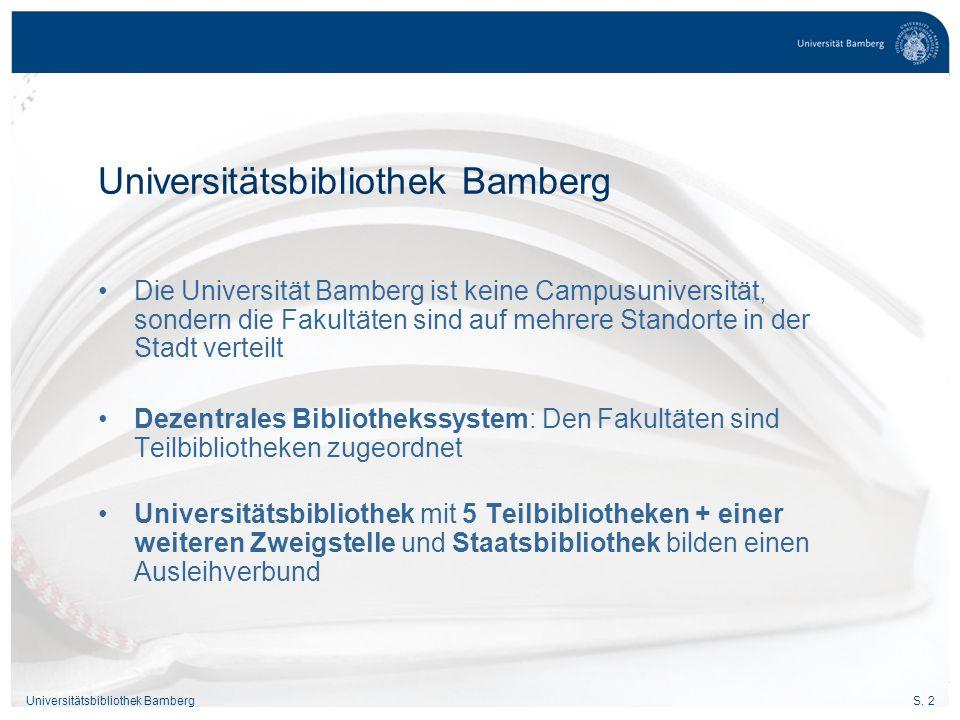 Universitätsbibliothek Bamberg