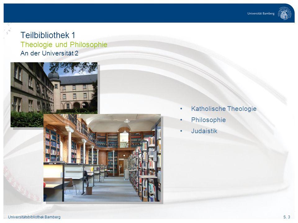 Teilbibliothek 1 Theologie und Philosophie An der Universität 2