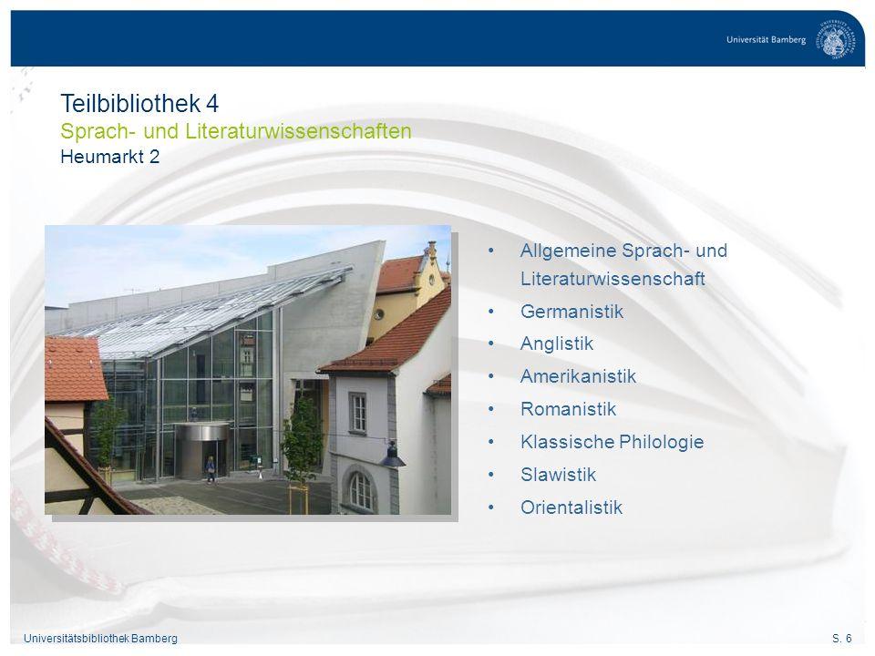 Teilbibliothek 4 Sprach- und Literaturwissenschaften Heumarkt 2