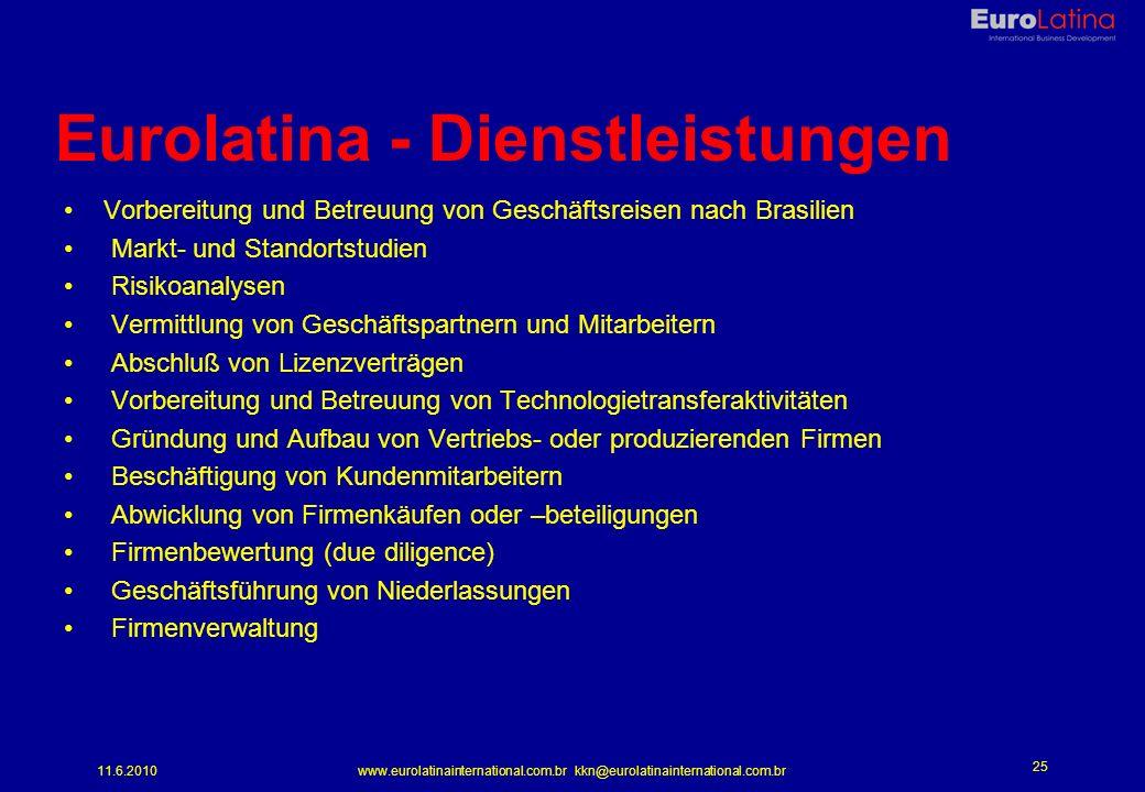 Eurolatina - Dienstleistungen
