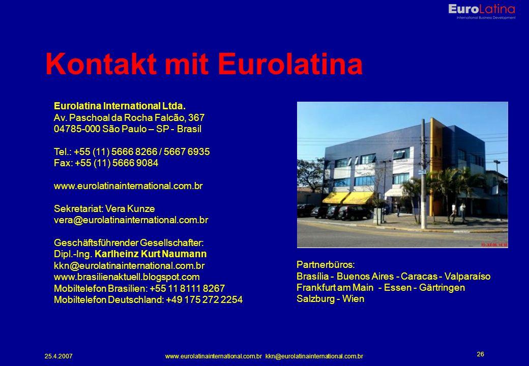 Kontakt mit Eurolatina
