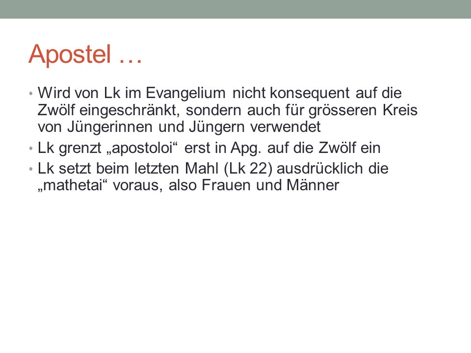 Apostel …