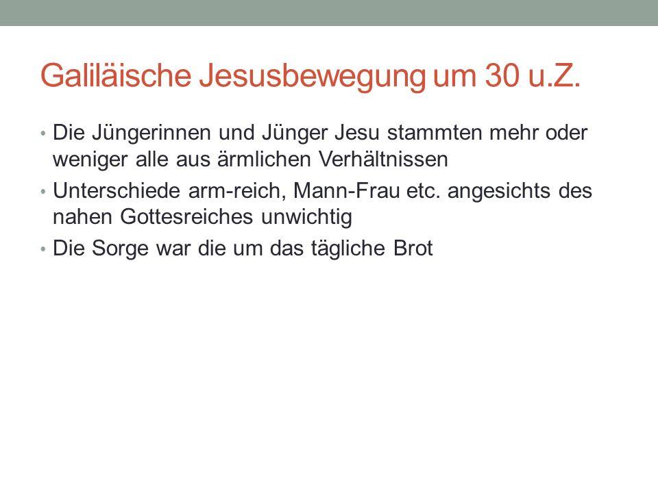 Galiläische Jesusbewegung um 30 u.Z.