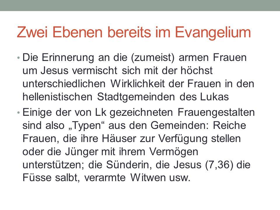 Zwei Ebenen bereits im Evangelium