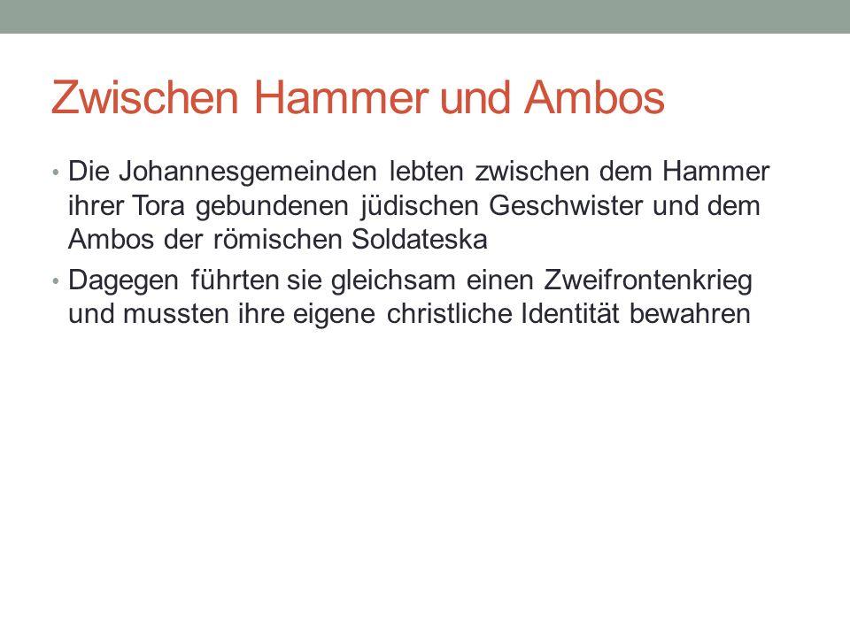 Zwischen Hammer und Ambos