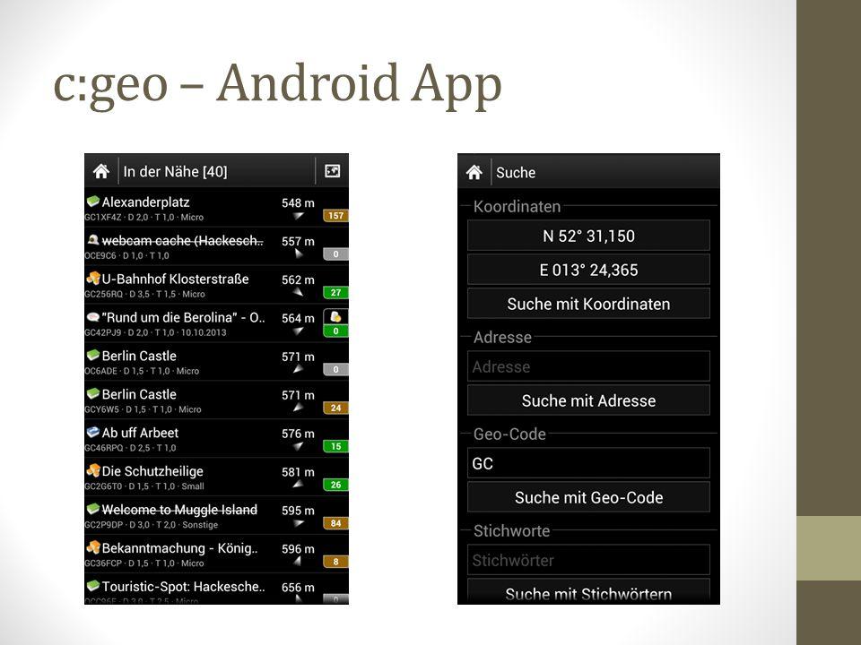 c:geo – Android App