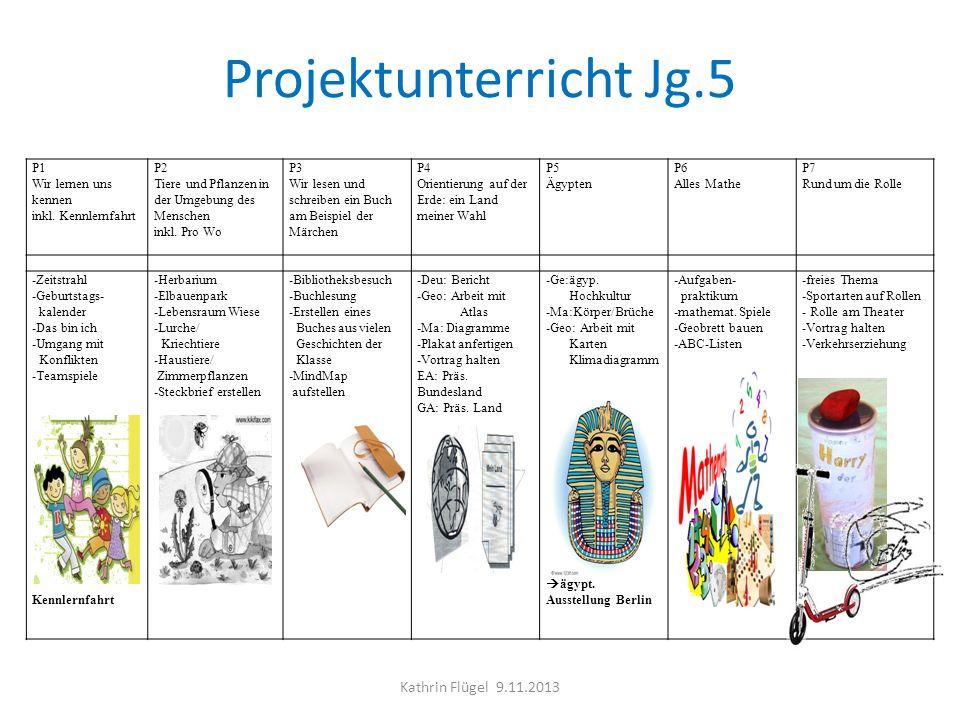 Projektunterricht Jg.5 Kathrin Flügel 9.11.2013 P1