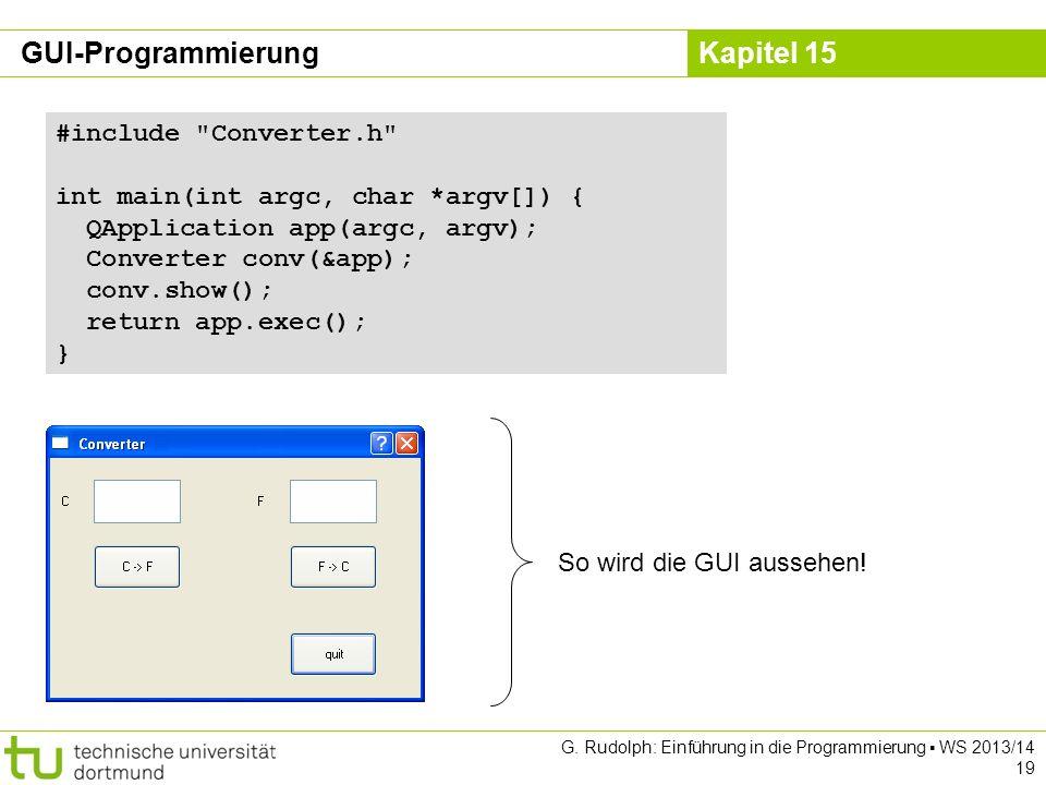 GUI-Programmierung #include Converter.h