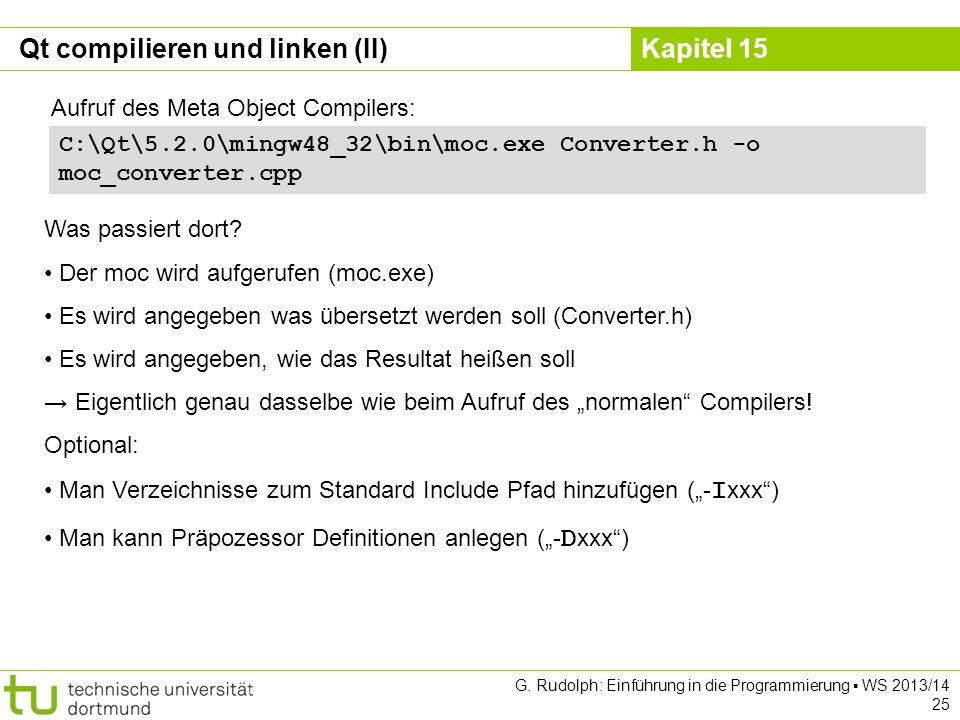 Qt compilieren und linken (II)