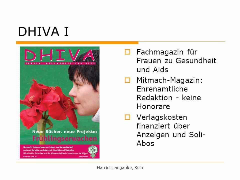 DHIVA I Fachmagazin für Frauen zu Gesundheit und Aids