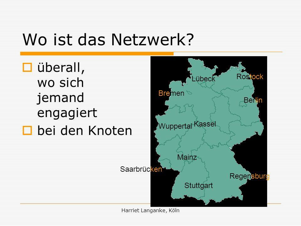 Wo ist das Netzwerk überall, wo sich jemand engagiert bei den Knoten