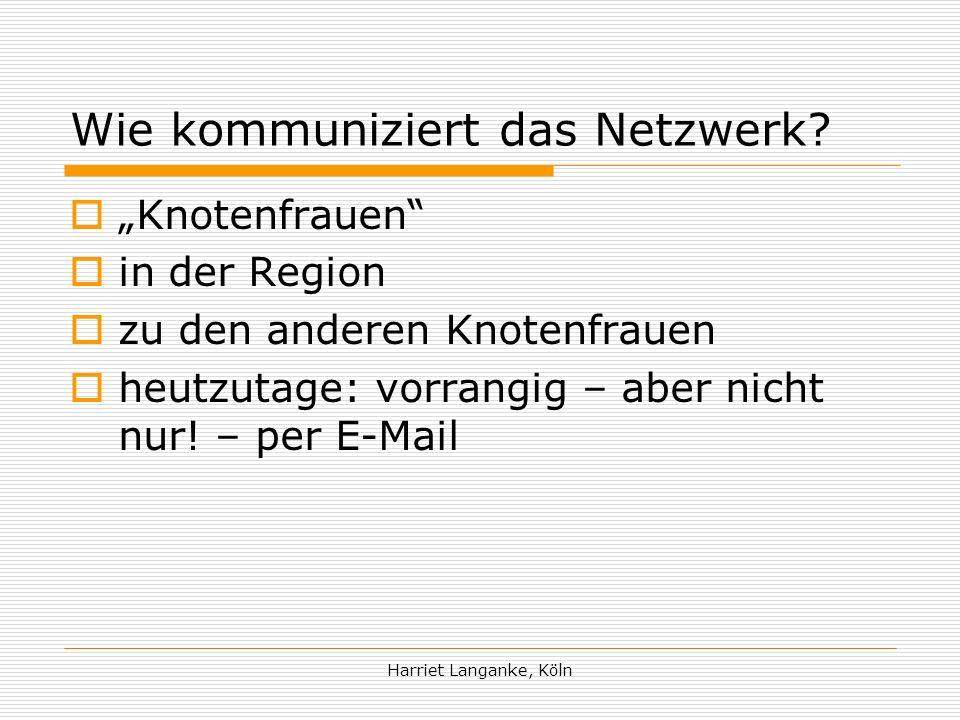 Wie kommuniziert das Netzwerk