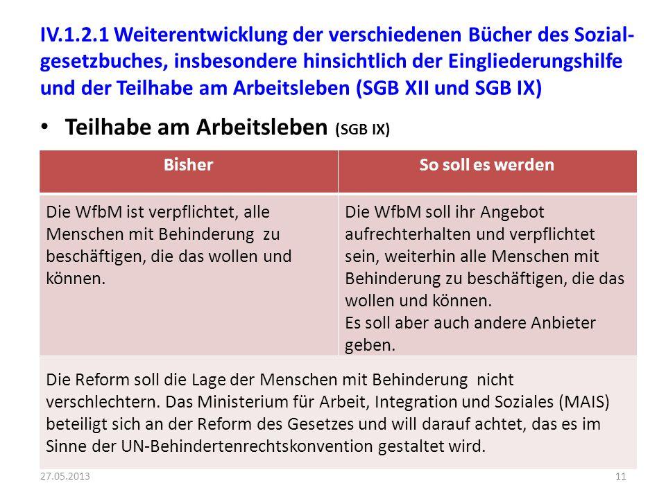 Teilhabe am Arbeitsleben (SGB IX)