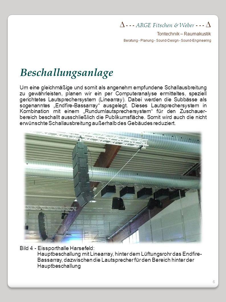 Beschallungsanlage  - - - ARGE Fitschen & Weber - - - 