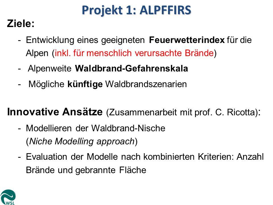 Projekt 1: ALPFFIRS Ziele: