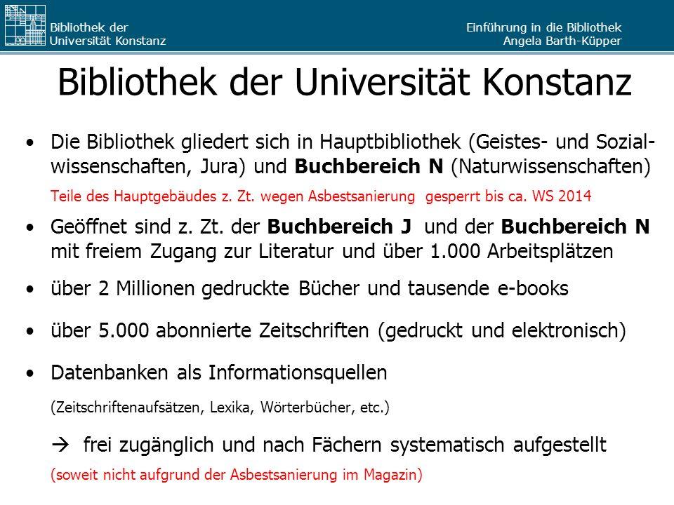 Bibliothek der Universität Konstanz