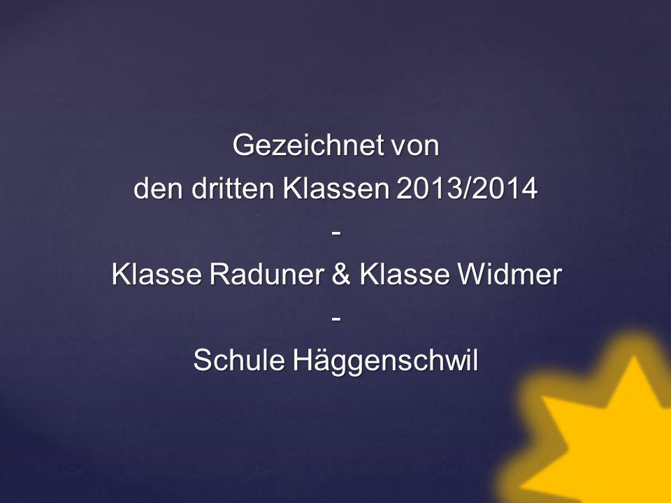 Gezeichnet von den dritten Klassen 2013/2014 - Klasse Raduner & Klasse Widmer Schule Häggenschwil