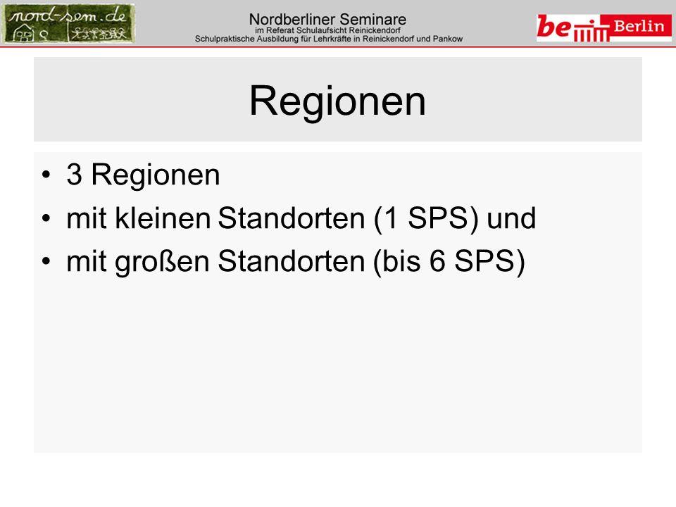 Regionen 3 Regionen mit kleinen Standorten (1 SPS) und