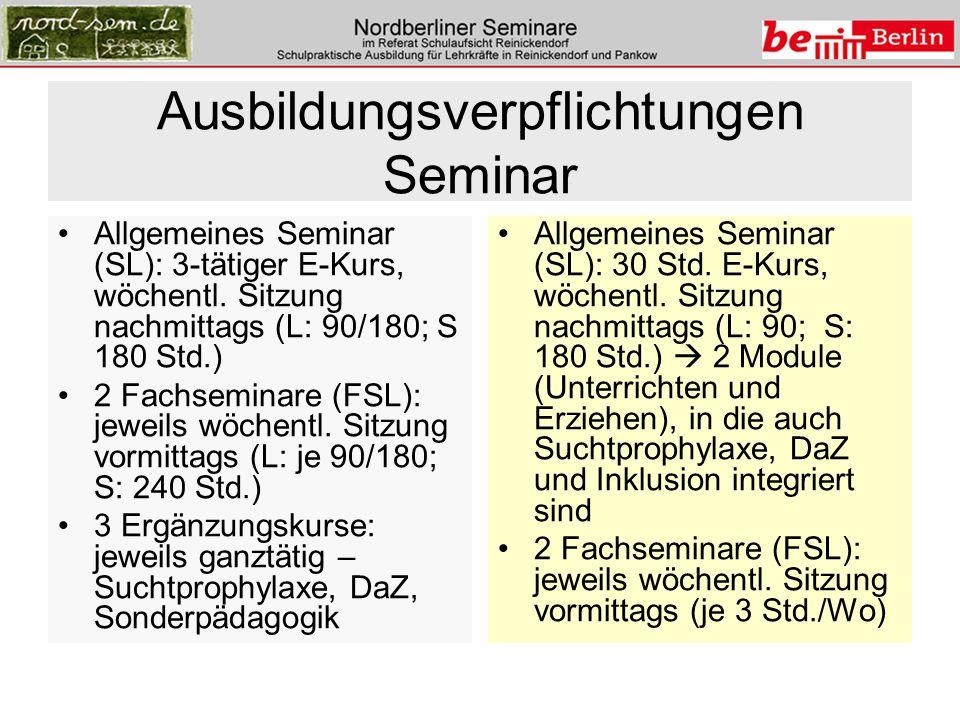 Ausbildungsverpflichtungen Seminar