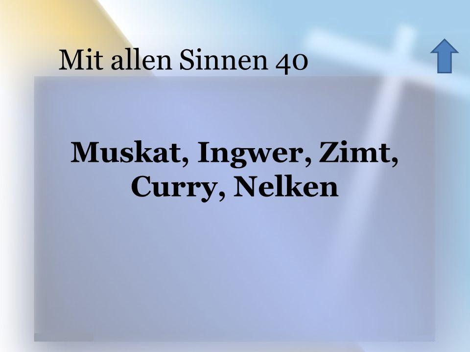 Muskat, Ingwer, Zimt, Curry, Nelken