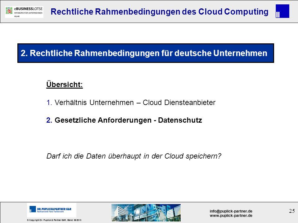 2. Rechtliche Rahmenbedingungen für deutsche Unternehmen