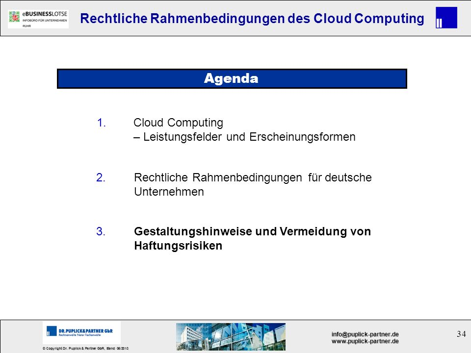 Agenda 1. Cloud Computing – Leistungsfelder und Erscheinungsformen