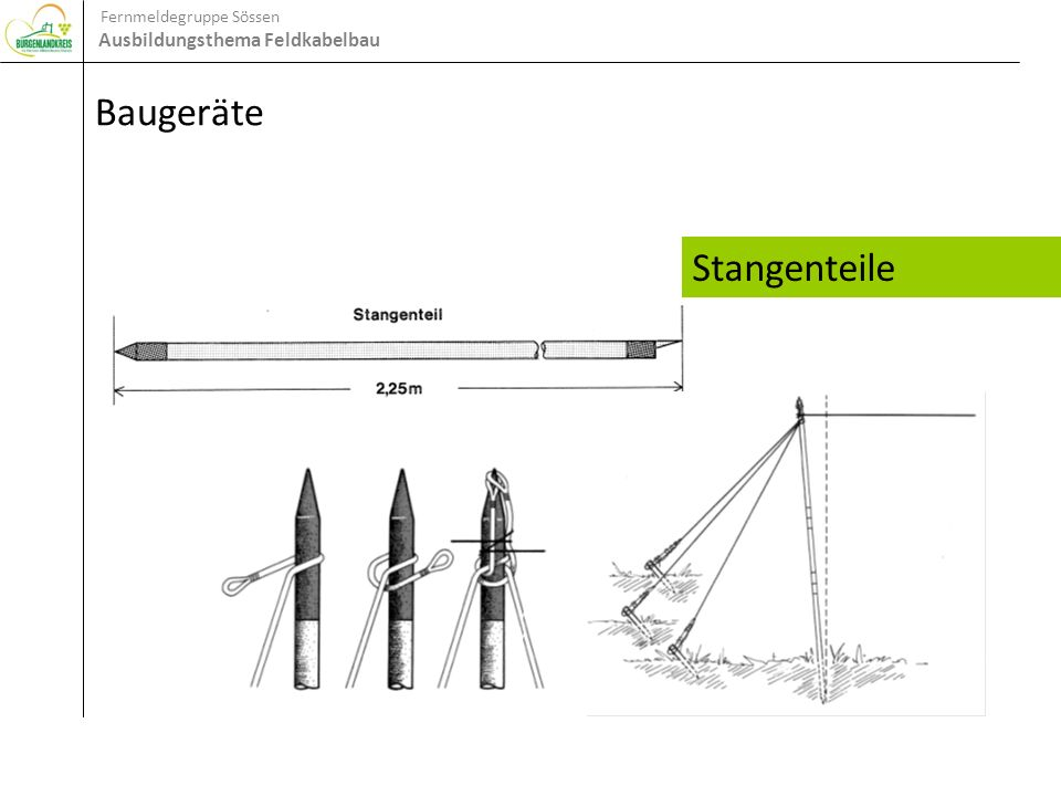 Baugeräte Stangenteile