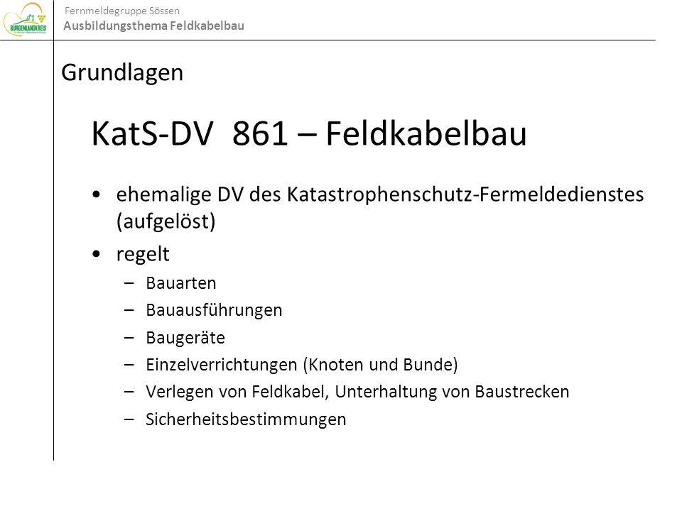 KatS-DV 861 – Feldkabelbau