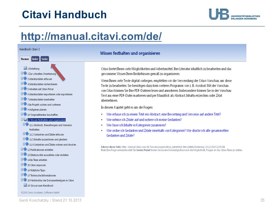 Citavi Handbuch http://manual.citavi.com/de/