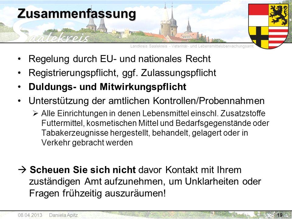 Zusammenfassung Regelung durch EU- und nationales Recht