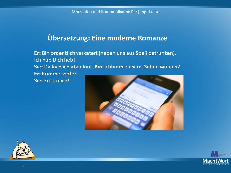 Übersetzung: Eine moderne Romanze
