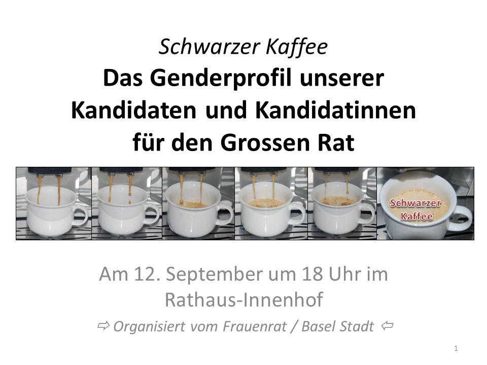 Schwarzer Kaffee Das Genderprofil unserer Kandidaten und Kandidatinnen für den Grossen Rat
